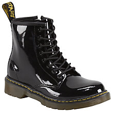 Buy Dr Martens Brooklee Patent Leather Boots, Black Online at johnlewis.com