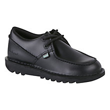Buy Kickers Kick Trap Leather Shoes, Black Online at johnlewis.com