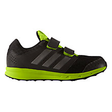 Buy Adidas Children's Sport 2.0 Running Shoes, Black/Lime Online at johnlewis.com