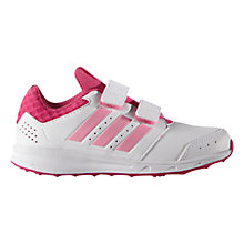 Buy Adidas Children's LK Sport 2 Trainers, White/Pink Online at johnlewis.com