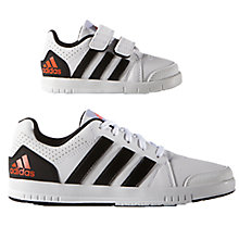 Buy Adidas Children's LK 7 Trainers, White/Black Online at johnlewis.com