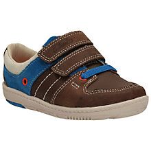 Buy Clarks Maxi Myle Rip-Tape Shoes, Brown Online at johnlewis.com