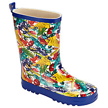 Buy John Lewis Children's Bugs Print Wellington Boots, Blue Online at johnlewis.com