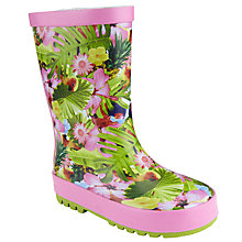 Buy John Lewis Children's Tropical Print Wellington Boots, Tropical Floral Online at johnlewis.com