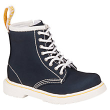 Buy Dr Martens Children's Brooklee Canvas Boots, Navy Online at johnlewis.com