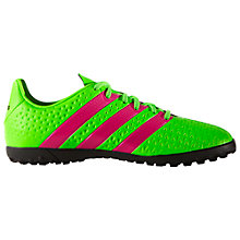Buy Adidas Children's Ace 16.4 Astroturf Shoes, Green Online at johnlewis.com