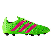 Buy Adidas Children's Ace 16.4 Flexible Ground Football Boots, Green Online at johnlewis.com