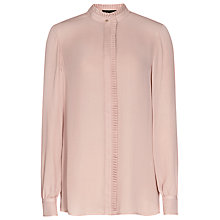 Buy Reiss Felton Pleat Detail Blouse, Pink Chalk Online at johnlewis.com