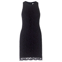 Buy Whistles Eve Short Lace Dress, Navy Online at johnlewis.com