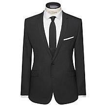 Buy Kin by John Lewis Milo Super Slim Fit Stretch Plainweave Suit Jacket, Black Online at johnlewis.com