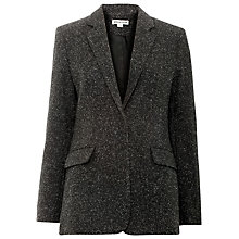 Buy Whistles Smith Donegal Blazer, Dark Charcoal Online at johnlewis.com