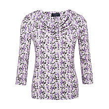 Buy Viyella Petite Blossom Top, Lavender Online at johnlewis.com