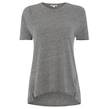Buy Whistles Silk Neppy T-Shirt, Grey Online at johnlewis.com