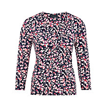 Buy Viyella Petal Print Jersey Top, Navy Online at johnlewis.com