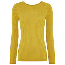 Buy Whistles Irina Rib Slim Knit, Yellow Online at johnlewis.com