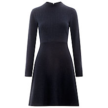 Buy Whistles Pinstripe Flippy Jersey Dress, Navy Online at johnlewis.com
