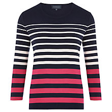 Buy Viyella Graduated Stripe Jersey Top, Multi Online at johnlewis.com