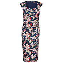 Buy Jolie Moi Retro Floral Dress, Navy Online at johnlewis.com