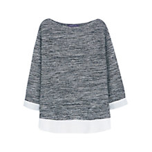 Buy Violeta by Mango Flecked Sweatshirt, Black Online at johnlewis.com