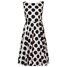 Buy Jolie Moi 50s Bow Back Dress, Black Online at johnlewis.com