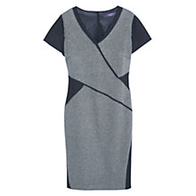 Buy Violeta by Mango Contrast Panelled Straight Fit Dress, Black/Grey Online at johnlewis.com