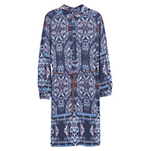 Buy Violeta by Mango Printed Shirt Dress, Medium Purple Online at johnlewis.com