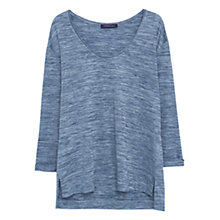 Buy Violeta by Mango Flecked Jersey Top, Blue Online at johnlewis.com