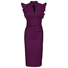Buy Jolie Moi Ruffle Shoulder Dress, Purple Online at johnlewis.com
