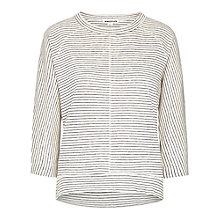 Buy Whistles Holly Stripe Linen Top, Blue/Multi Online at johnlewis.com