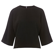 Buy Whistles Crepe Slouch Top, Black Online at johnlewis.com
