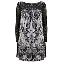 Buy Mint Velvet Viola Print Lace Dress, Multi Online at johnlewis.com