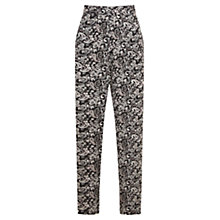 Buy Mint Velvet Casey Print Tapered Trousers, Multi Online at johnlewis.com