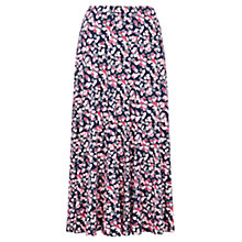 Buy Viyella Petal Print Jersey Skirt, Navy Online at johnlewis.com