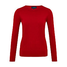 Buy Viyella Bobble Wool Blend Jumper, Red Online at johnlewis.com