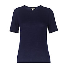 Buy Whistles Rib T-Shirt, Navy Online at johnlewis.com