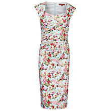 Buy Jolie Moi Retro Floral Dress, Aqua Online at johnlewis.com