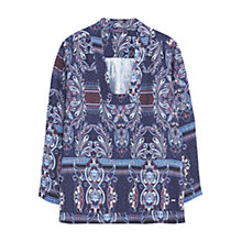 Buy Violeta by Mango Paisley Print Blouse, Purple/Multi Online at johnlewis.com