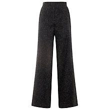 Buy Whistles Smith Donegal Wide Leg Trousers, Dark Charcoal Online at johnlewis.com