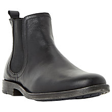 Buy Dune Chockers Leather Chelsea Boots, Black Online at johnlewis.com