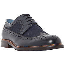Buy Dune Raffish Pony Hair Leather Wingtip Brogue Derby Shoes, Navy Online at johnlewis.com