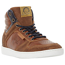 Buy Dune Sandy Hills Hi-Top Leather Trainers, Tan Online at johnlewis.com
