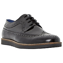 Buy Dune Blackout Hi-Shine Leather Brogue Shoes Online at johnlewis.com