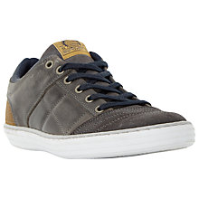 Buy Dune Temper Leather Trainers, Grey Online at johnlewis.com