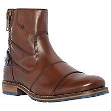 Buy Dune Cackle Toecap Zip Boots, Tan Online at johnlewis.com