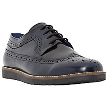 Buy Dune Blackout Hi-Shine Leather Brogue Shoes, Navy Online at johnlewis.com