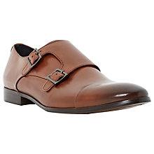 Buy Dune Reynold Toecap Buckle Monk Shoes, Brown Online at johnlewis.com