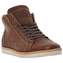 Buy Dune Sugar Snap Leather Hi-Top Trainers Online at johnlewis.com