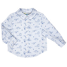 Buy John Lewis Baby Dinosaur Print Shirt, Blue Online at johnlewis.com