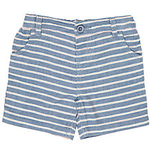 Buy John Lewis Baby Stripe Shorts, Blue Online at johnlewis.com