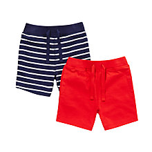 Buy John Lewis Baby Nautical Shorts, Pack of 2, Navy/Red Online at johnlewis.com